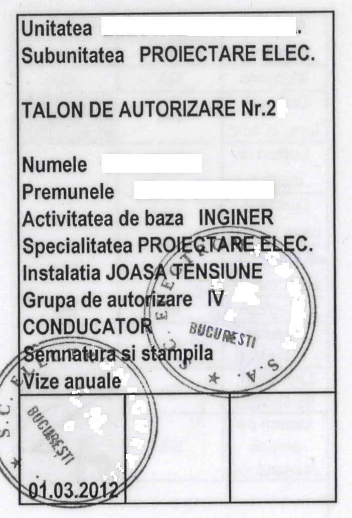 Talon Electrician Autorizat1