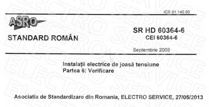 verificare - instalatii electrice joasa tensiune