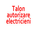 talon autorizare electricieni
